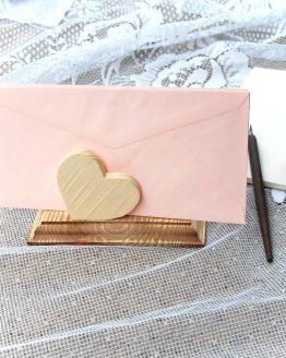 Luxusný rustikálny Stojan na obálky a servítky